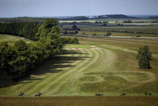 A great looking tee shot at Royston Golf Club