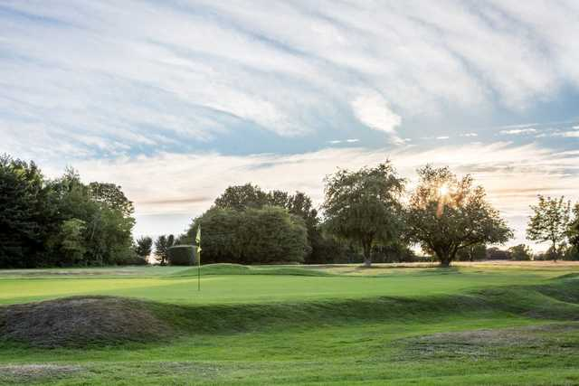 A view of the 18th green at the Mid Herts Golf Club