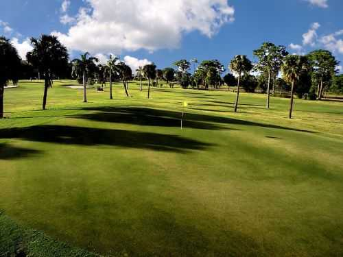 A view of the 15th hole at Deerfield Country Club