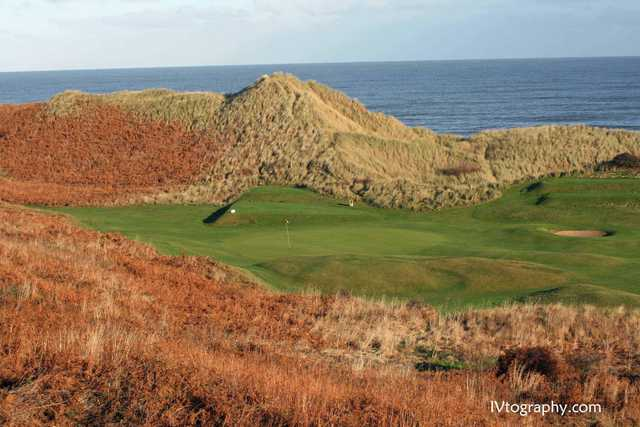View of the 2nd green at Warkworth Golf Club