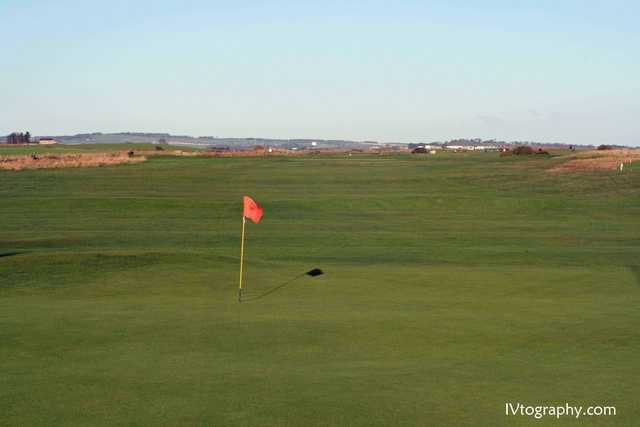 View of the 18th green at Warkworth Golf Club