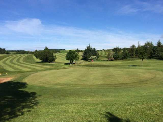 Putting green and hole at Ardeer Golf Club