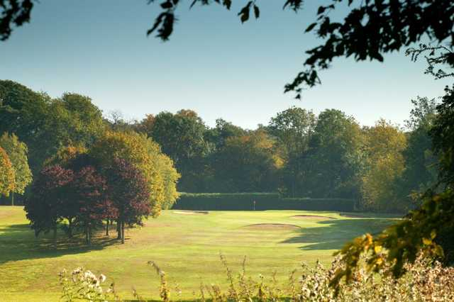 16th fairway down to the green at Welwyn Garden City Golf Course