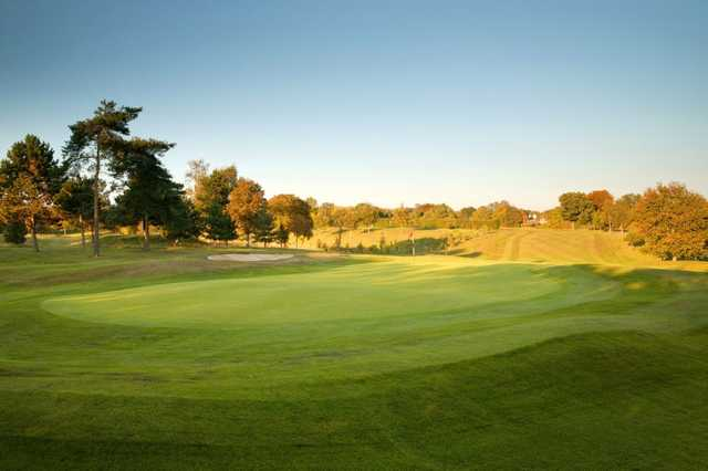 View from the back of the 1st hole at Welwyn Garden City Golf Course