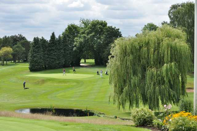 The pond by the 17th hole at Welwyn Garden City Golf Club