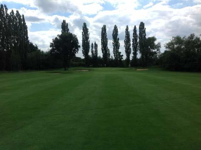 View of the 1st green at Abridge Golf & Country Club