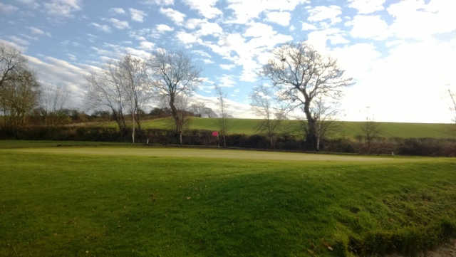A view of a hole at Bridgend Golf Club
