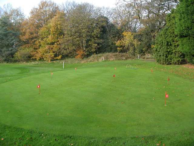 The putting green at the Chortlon cum Hardy Golf Club