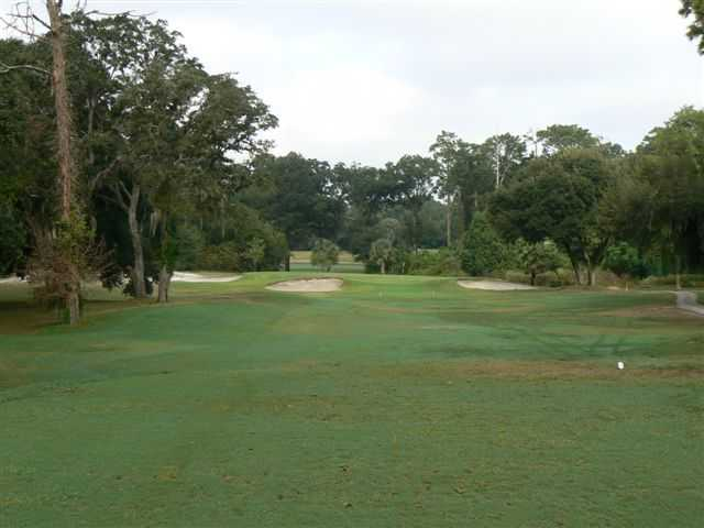 A view of hole #2 at Sandhill Golf Course