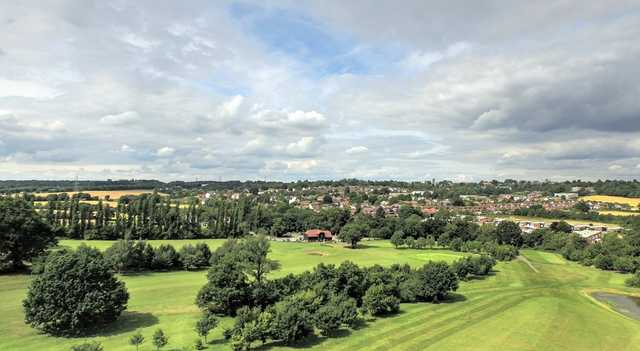 Aerial view of Epping golf course