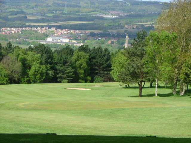 Panoramic views from 'Liberty Colum' 15th hole at Whickham Golf Club