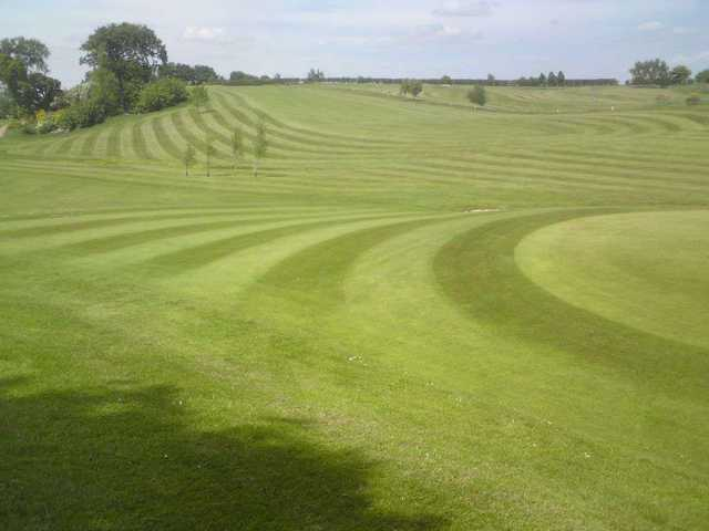 The green and first cut at Brucefields Family Golf Centre