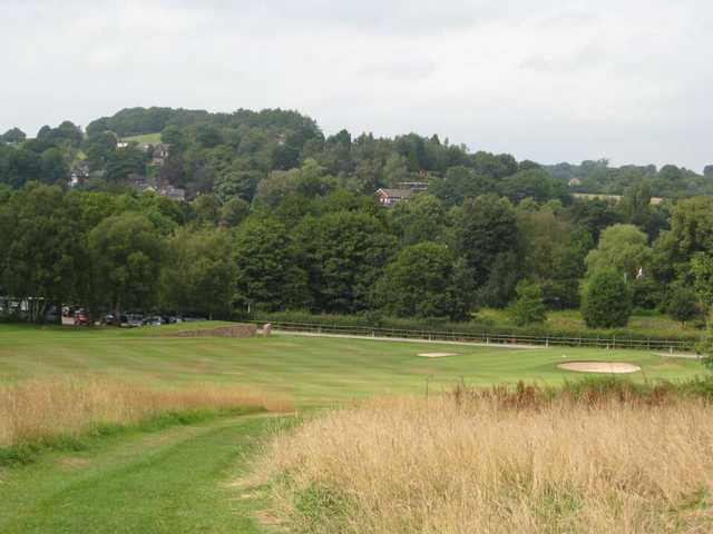View of  the finishing hole at Greenway Hall Golf Club