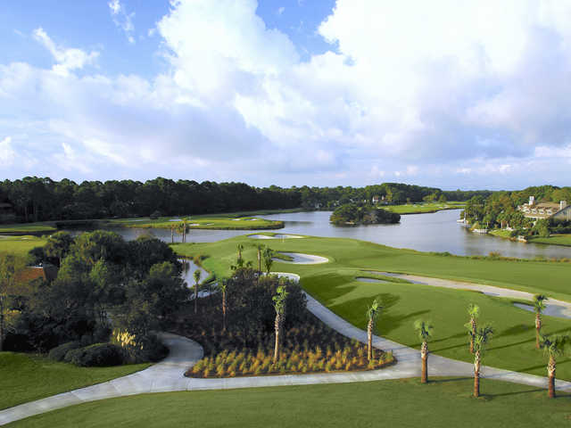 Robert Trent Jones Oceanfront Course at Palmetto Dunes Oceanfront Resort, Hole #9