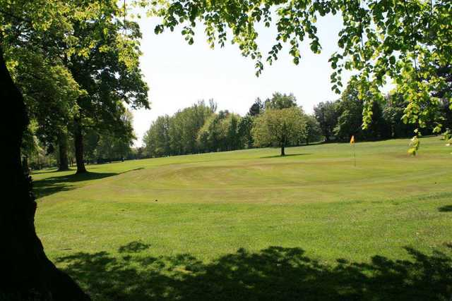A greenside view of the fairway at the Woolton Golf Club