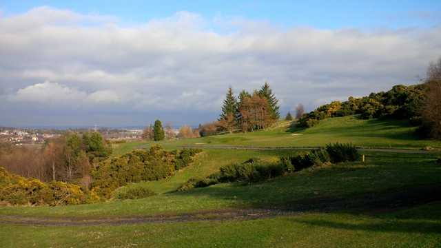 Fantastic scenery from the tee at Swanston New Golf Course