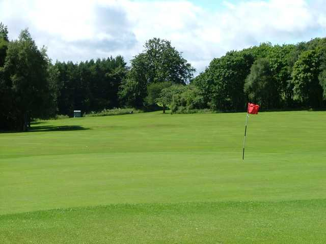 Looking back from a green at Glenrothes Golf Club