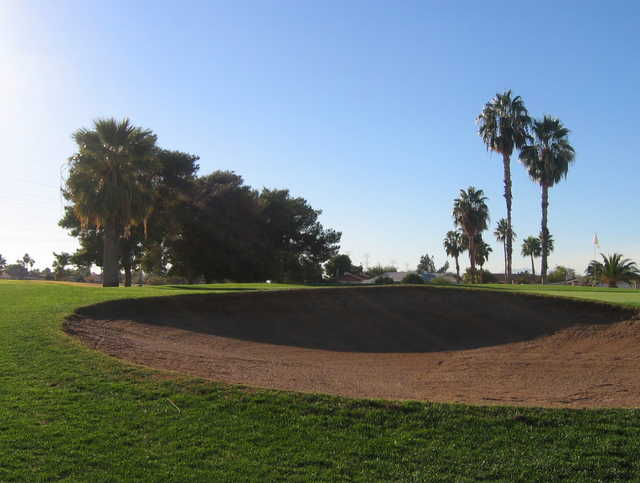 Bunkered green at Peoria Pines Golf Club