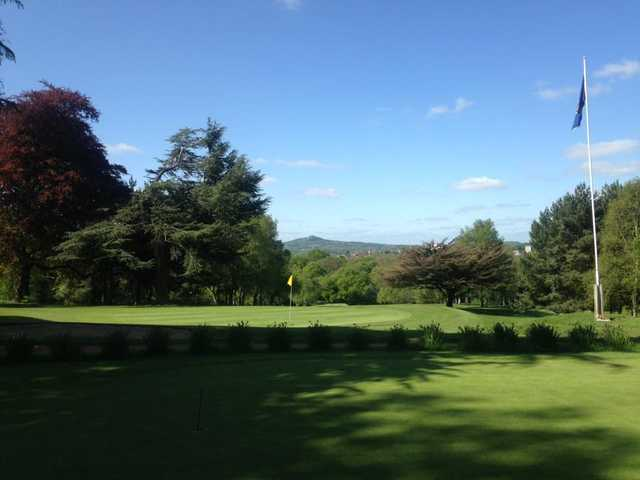 View of the finishing hole at Halesowen Golf Club