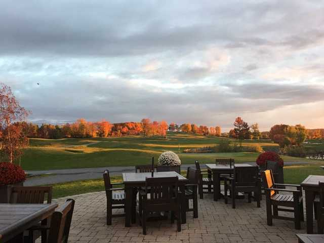 A view from the clubhouse patio at The Quarry Golf Club