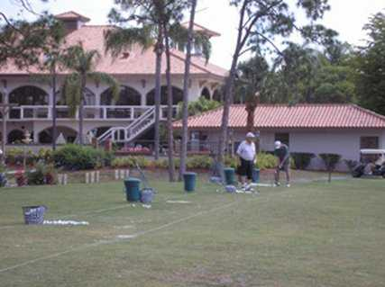 A view of the driving range at Del Tura Golf & Country Club