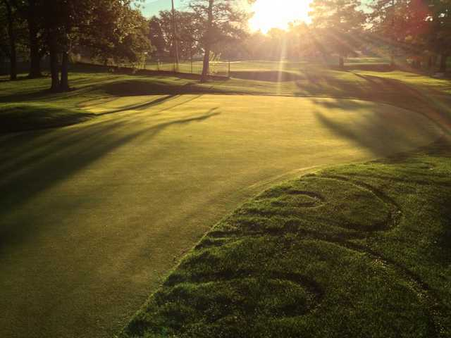 Sunrise over a green at Ingersoll Golf Course