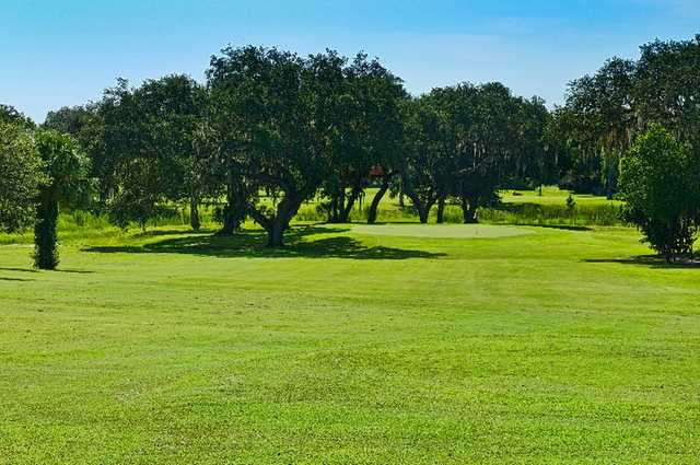 A view of green #11 at Inverness Golf & Country Club