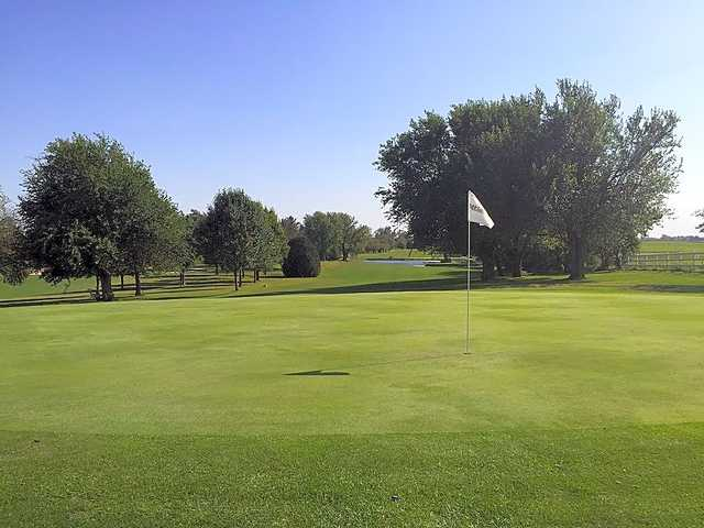 View from a green at Prairie Lake Lodge Country Club & Inn