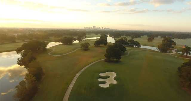 Bayou Oaks City Park: Aerial view