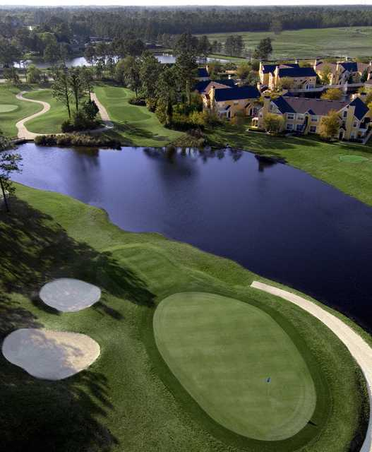 Windsor Parke GC: Aerial view of #7