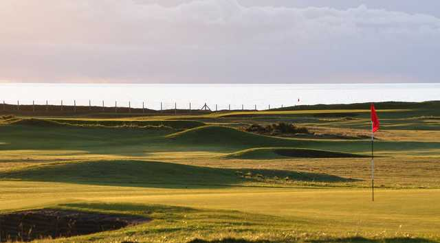 A view from a green at Prestwick St Nicholas Golf Club
