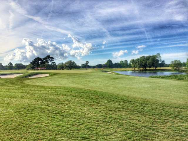 The 17th hole on the South at Bayou Oaks at City Park