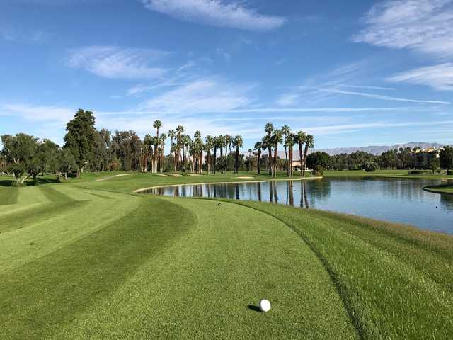 A view from a tee at The S at Rancho Mirage