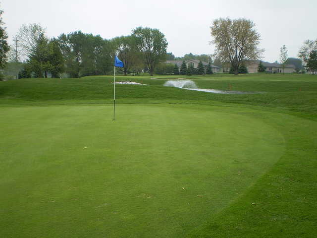 A view of two holes at Mitchell Golf and Country Club
