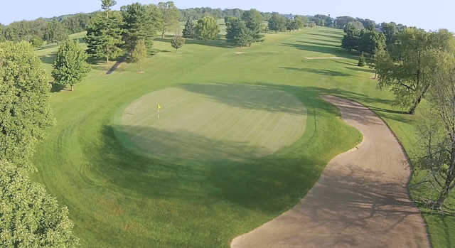 Aerial view from the 1st green at Indian Oaks Golf Club