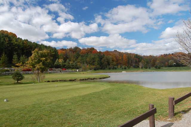 A view of tee #5 and green #7 at Kettle Creek Golf and Country Club
