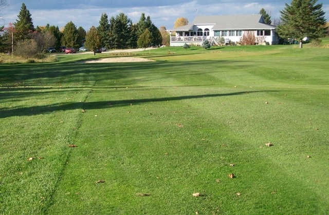 A view of the clubhouse at Clear Springs Golf Course