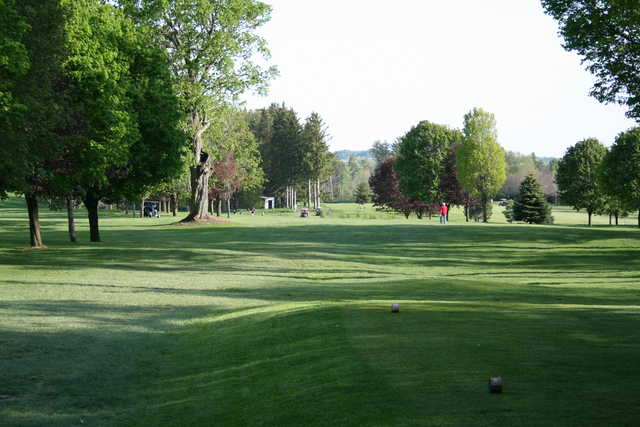 A view from a tee at Walkerton Golf and Country Club