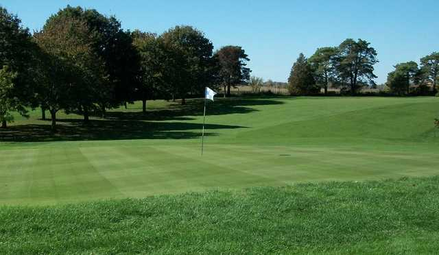 A view of a green at Walkerton Golf and Country Club