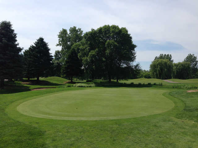 View from the practice green at Stillwater Oaks Golf Course