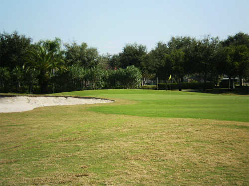 A view of a green at Heritage Harbor