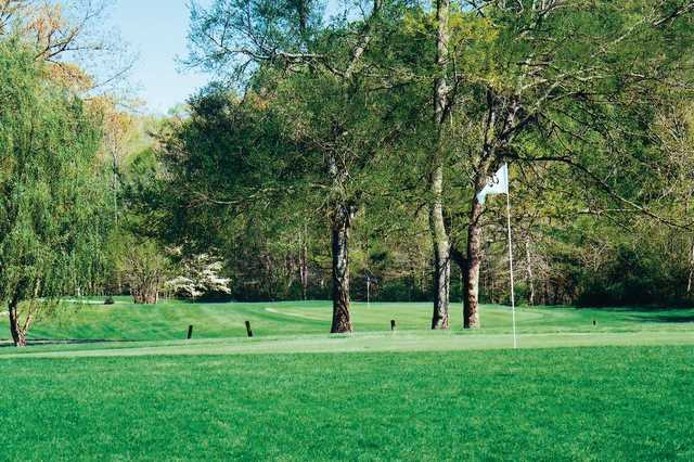 A view of a green from Old Stone Fort Golf Course