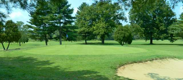 View of a green at Sycamore Golf Club