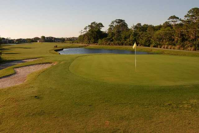 A view of the 18th green at Baytree National Golf Links
