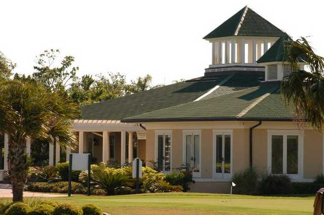 A view of the clubhouse at Baytree National Golf Links