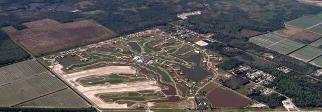 Aerial view from Eagle Lakes Golf Club