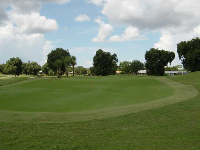A view of the practice area at Hibiscus Golf Club