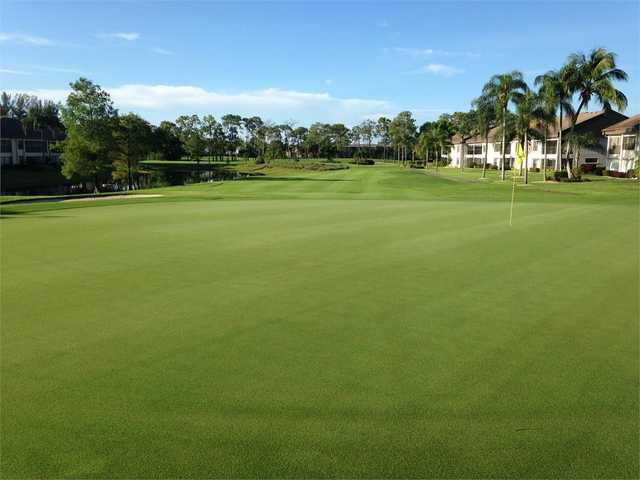 Looking back from the 9th green at The Hideaway Country Club