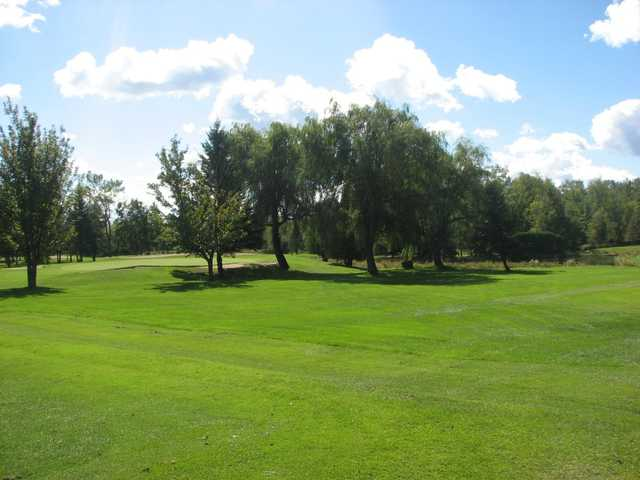 A view of a hole at Club de Golf Heriot