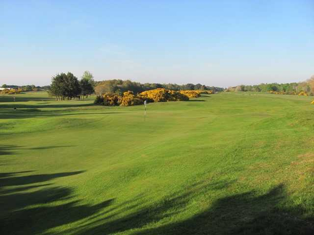Looking back from the 5th green at Nairn Dunbar Golf Club